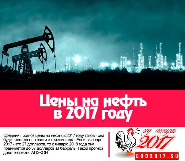 Прогноз цен на нефть 2017