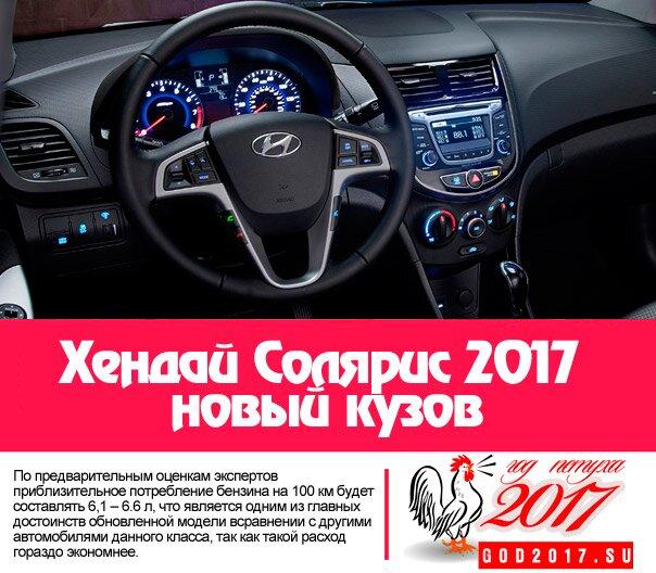 Хендай Солярис 2017 новый кузов