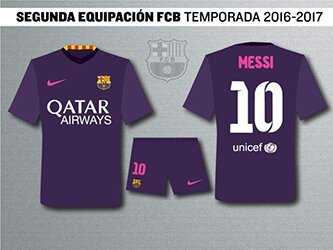 Футбольная форма Барселоны 2016-2017