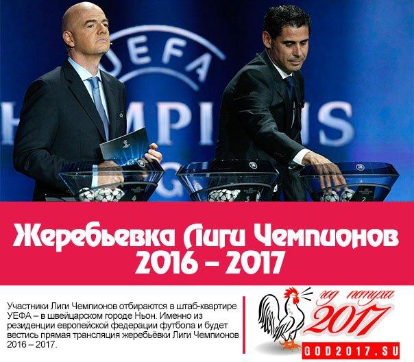 Жеребьёвка Лиги Чемпионов 2016 – 2017