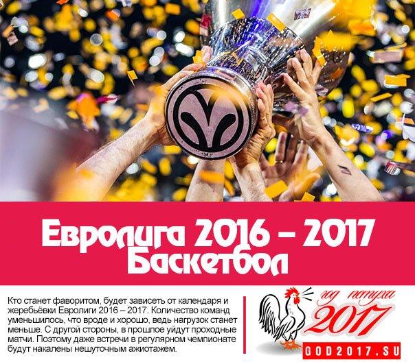 Евролига 2016 – 2017. Баскетбол
