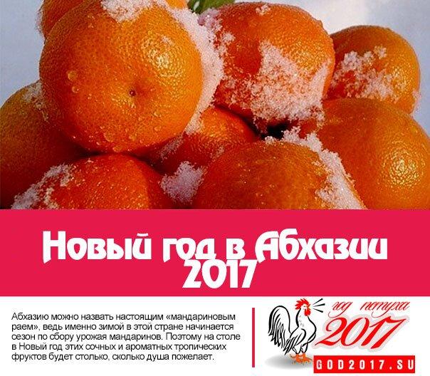 Новый год в Абхазии 2017