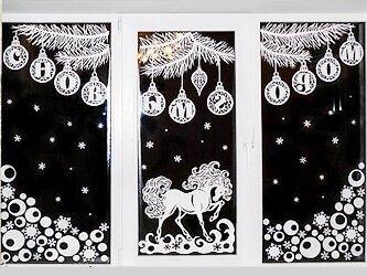 Трафареты на окна к Новому году 2017 для вырезания