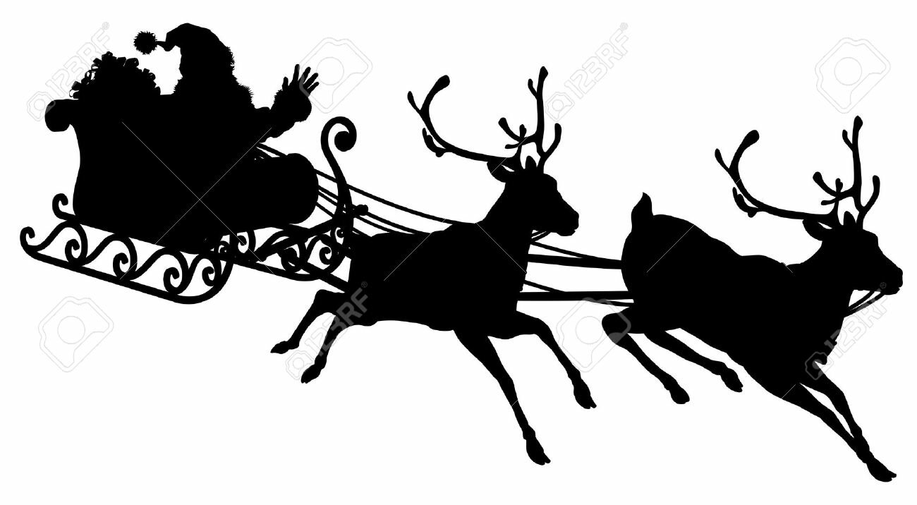 Santa Flying His Sleigh Stock Images RoyaltyFree Images