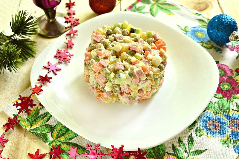 С салат на новый год рецепт с