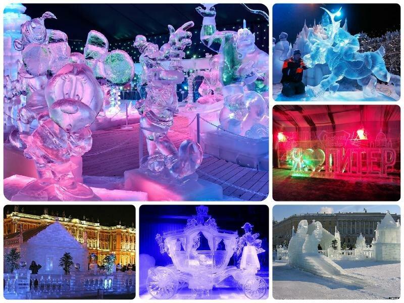Ледяные скульптуры в СПБ 2017