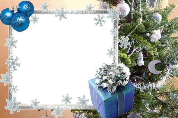 Шаблон открытки с новым годом