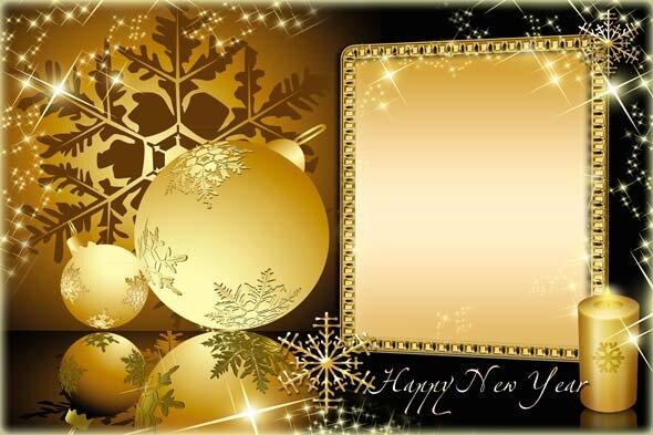 Фотошоп новый год открытки