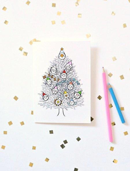 Новогодние открытки 2017. Скачать бесплатно шаблоны