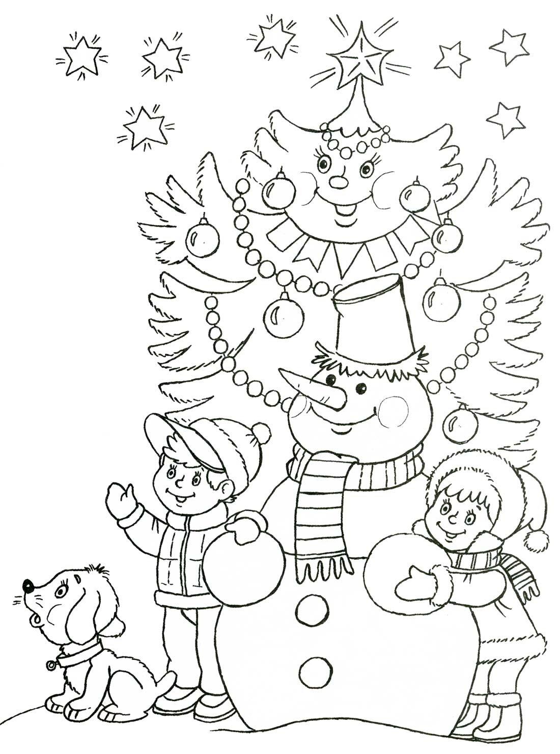 Новогодние раскраски для детей 5-6 лет распечатать