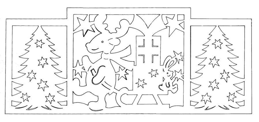 Трафареты из бумаги на новый год своими