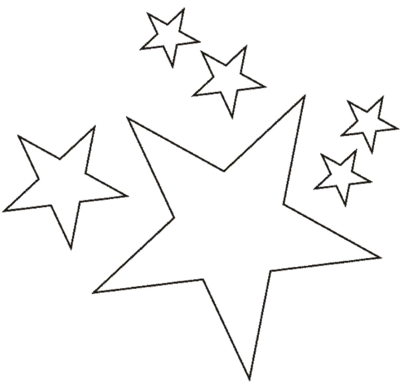 Рисунки звезд на окно