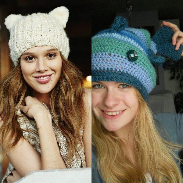 Модные вязаные шапки осень-зима 2016 - 2017