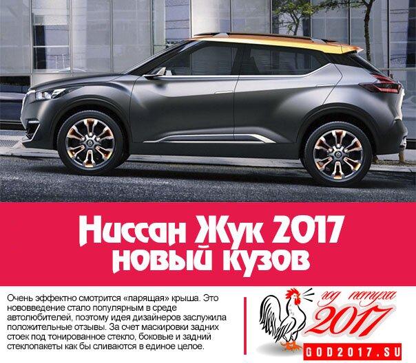 Ниссан Жук 2017 - новый кузов