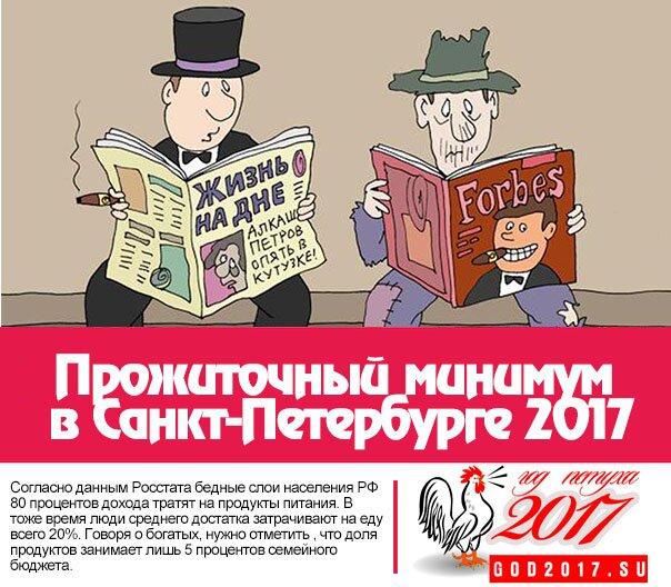 Прожиточный минимум в Санкт-Петербурге 2017