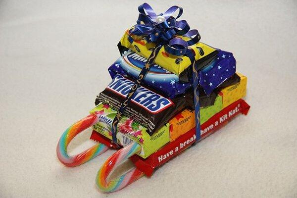 Что положить в подарок из конфет 520