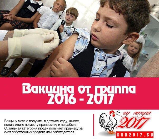 Вакцина от гриппа 2016 - 2017