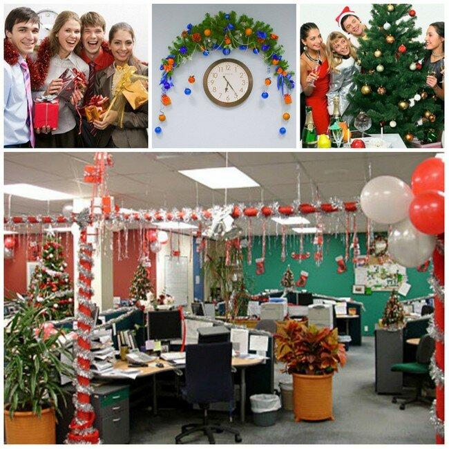 Как красиво украсить офис на новый год